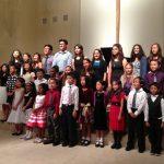 choir of kids singing